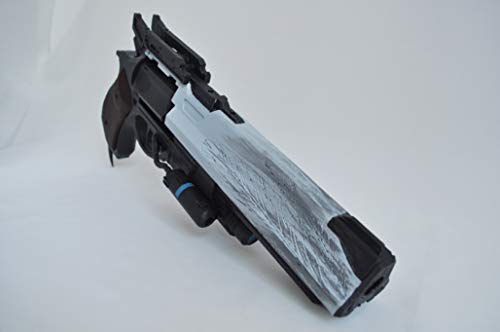 Designed By The Hawkmoon Hand Cannon Prop Classic Ornament Free Destiny Banner, has Moving Ammo, Plastic Light and Durable. Safe, Does not Shoot