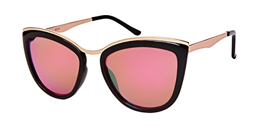 Edge I-Wear Chic Cat Eye Sunnies s/Color Mirror Lens - Sunglasses Sunnies