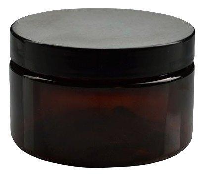 8 oz amber plastic jars - 8