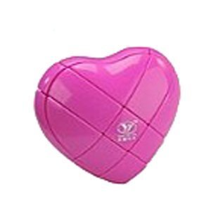 YJ 3x3 Heart Puzzle Cube Pink
