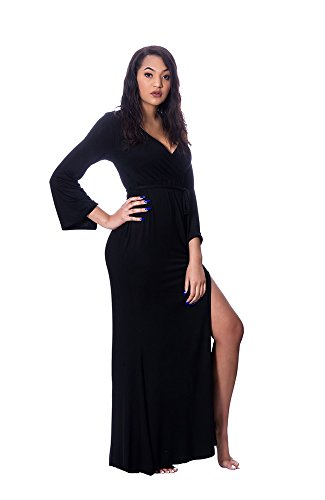 Runway Robe Sexy Pullover Style Maxi Dress Nightgown – Lightweight Cotton Nightdress – Long Sleeve, Floor Length Sleepwear - Perfect For Nursing and (Runway Clothes)