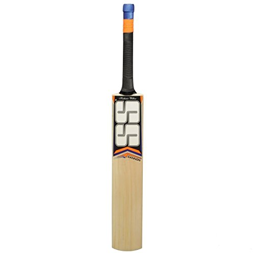 SS Kashmir Willow Leather Ball Cricket Bat, Exclusive Cricket Bat for Adult Full Size with Full Protection Cover (Cannon)