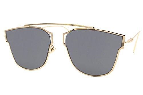 61b1ca37903ca7 Cheapass Lunettes de soleil Transparente Verres Ronds Lentilles Argent Effet  Miroir Moderne Designer Inspiré UV400 Variation
