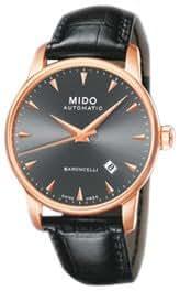 MIDO Baroncelli Ii 38mm M86003134 - Reloj de caballero automático, correa de piel color negro