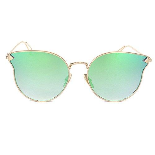 Aoligei L'Europe et les lunettes de soleil lunettes de soleil de Style flèche États-Unis Retro metal avion lunettes de soleil cent tours OTCBKd