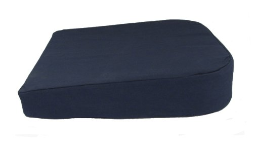 EXTRA THICK Memory Foam Tailbone Seat Cushion Pad for Sitting Relief & Posture Aid for Office Home & Driving, Navy Blue