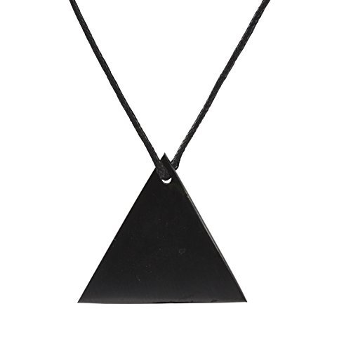 Shungite Pendant Necklace: Guaranteed Authentic Russian Natural Healing Stone from Karelia (Triangle) ()