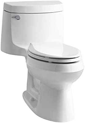 Kohler K-3828-0 Cimarron Comfort Height Elongated Toilet, White, 1-Piece