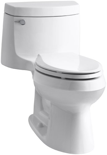 (Kohler K-3828-0 Cimarron Comfort Height Elongated Toilet, White, 1-Piece)