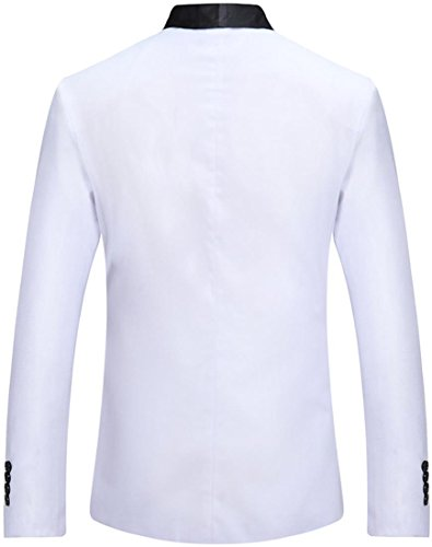 Casual Homme white One Fit Jza129 Jza127 Sportides Slim Fashion Blazer Suits Jacket Button 1aWd7qwIx