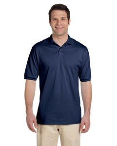 Jerzees Men's Spot Shield Short Sleeve Polo Sport Shirt, Jnavy, Large - Collar Polo T-shirt