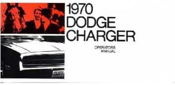 DODGE Charger 1970 Owner/'s Manual 70 Charger RT