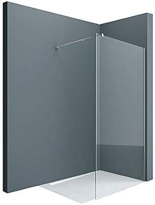doporro Lujosa Mampara/panel de ducha de vidrio transparente, diseño Bremen1K 50x200   Estabilizador de vidrio real de 8 mm   Vidrio de seguridad templado   Nano - revestimiento incluido: Amazon.es: Bricolaje y herramientas