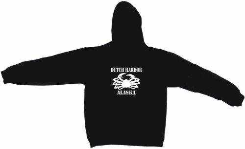 Harbor Sweatshirt Dutch (Dutch Harbor Alaska Crab Logo Men's Hoodie Sweat Shirt XXXXL Black)