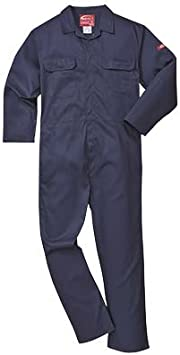 """Portwest Bizweld Flame Resistant Coverall BIZ1 New With Tags Leg 31"""" Black XL"""