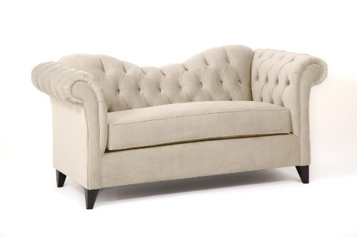 Loni M. Designs Ginger Settee, Off-White