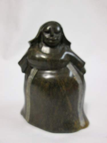 (Shona Art Stone Sculpture, African Village Lady, Small 5 in high )