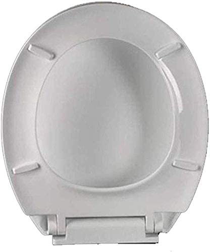 Andou Nk 抗菌尿素 - ホルムアルデヒドカバーユニバーサル肥厚便座O型トイレで便座トイレのふた、ホワイト、41から43.5 * 36センチメートル