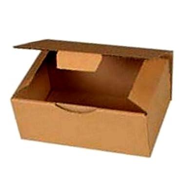10 Boites Postales à tirettes marrons : 200 X 140 X 75 mm Petite Cannelure