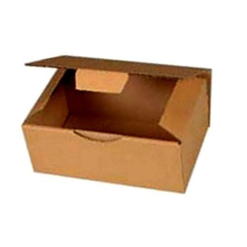 10 Boites Postales à tirettes marrons : 250 X 150 X 100 mm Petite Cannelure
