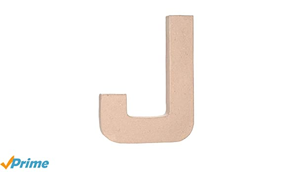 Darice 2861-J Paper Mache Letter 12Inx1.5In