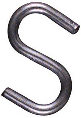 National N121-566 1'' Heavy Open Metal ''S'' Hooks - Quantity 450