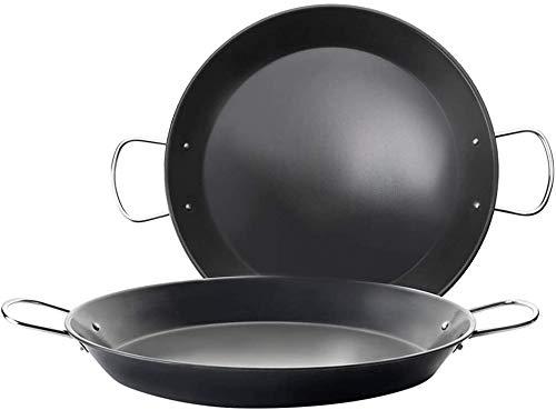 Space Home – Inductie-paella-pan van koolstofstaal – pannenpan – antiaanbaklaag – geschikt voor alle soorten branden…