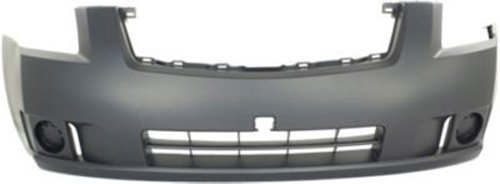 Crash Parts Plus Primed Front Bumper Cover Replacement for 2007-2009 Nissan Sentra (Bumper Cover Replacement Front)