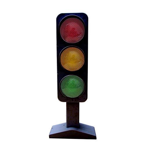 "Dazzling Toys Flashing Traffic Light Lamp 7"" - 3 Randomly Flash and Blink"