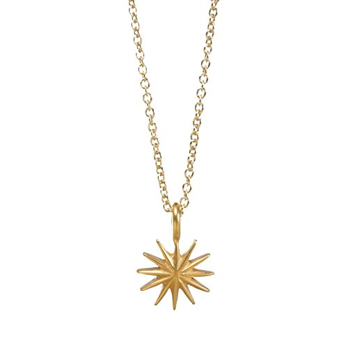 Wish Dogeared A Make Necklace (Dogeared Daughter Gold Dipped Starburst 16