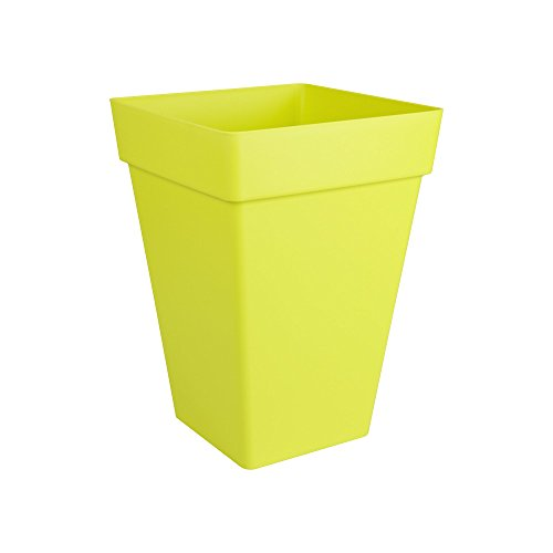 Elho Loft Urban Square High 30 - Flowerpot - Lime Green - Outdoor - 脴 29.5 x H 41.5 cm