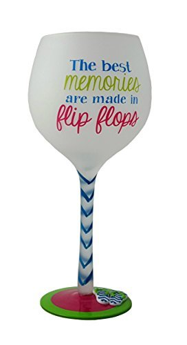 Painted Glass Hand Champagne Frosted (Flip Flop Frosted