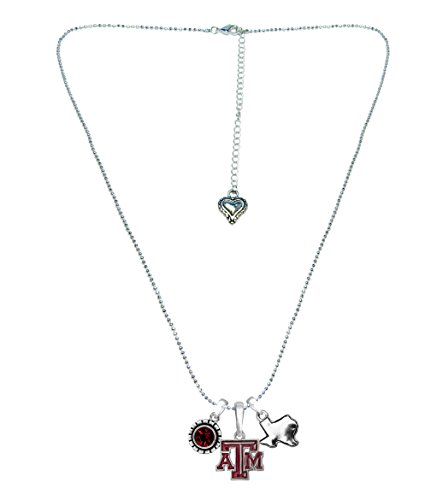 - Sports Accessory Store Texas A&M Aggies Home Sweet Home Silver Crystal Necklace Jewelry Gift TAMU