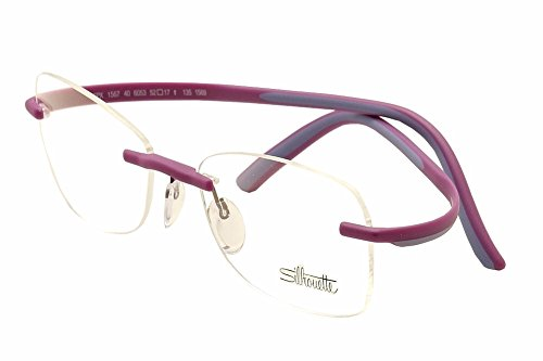 Silhouette Eyeglasses SPX Match Chassis 1569 6053 Rimless Optical Frame 17x135mm