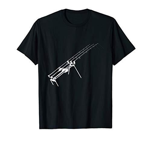 Mens Carp Fishing Rod Pod With Alarms Shirt Accessories Buzz Bar