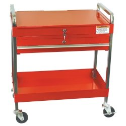Service Cart with Locking Top and Drawer - Red Tools Equipment Hand Tools
