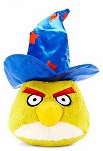 Angry Birds Seasons Halloween Games (Angry Birds Halloween 5-Inch Plush Yellow Bird with Wizard)