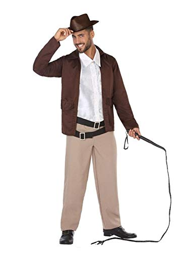 8891e890dfcdb DISBACANAL Disfraz de Indiana Jones para Hombre - Único