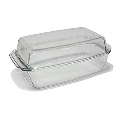 Fuente para horno con tapa de cristal 3,5 L. resistentes de ...