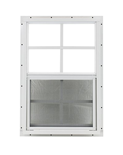Shed Window 14 X 21 White J-Channel Mount Safety Glass by Shed Windows and More (Image #4)