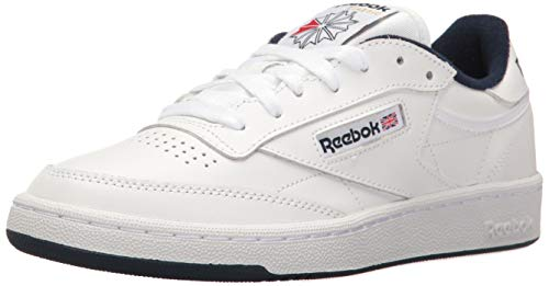 Reebok Men's Club C 85 Walking Shoe, White/Navy, 10 M US ()