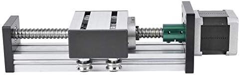 LZP-PP Linearführungsschiene, Aluminium-Legierung Schraube Slide-Linearführung Einwellen Buch Stufe 400mm Strokes mit 57 Motor (1605)