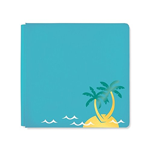 Photo Album Palm Tree - Creative Memories 12x12 Coverset Album (Turquoise Sun-Kissed)