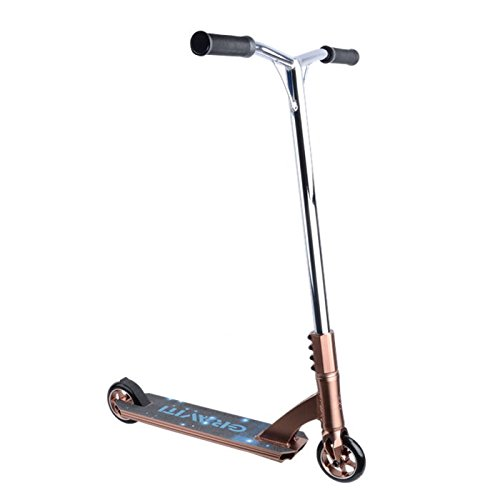 GRAVITI ���Pro Freestyle Stunt Scooter 110mm Aluminum Core Wheels Abec-9 Kick Scooter-SCS Compression System (brown)
