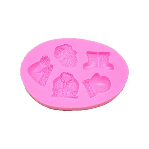 Santa Claus Christmas Bells Silicone Cake Mold Chocolate Soap Mold Cake Decorating Tools For Kitchen Bakeware - santa claus