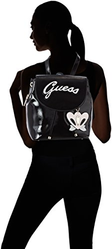 5x29x27 Black Women��s cm W H x Shine Handbag Backpack 13 Black Guess Bags L Hobo YqwxHazYA