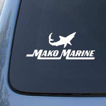 Mako Marine Boats - Car, Truck, Notebook, Vinyl Decal Sticker #2716 | Vinyl Color: White