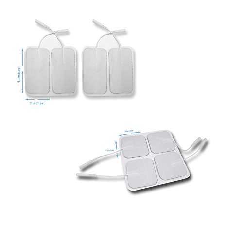 Tens Unit Patches Pads Electrodes 8 Pieces Large 2 x 4 inches 8 pieces small 2 x 4 inches for muscle stimulators