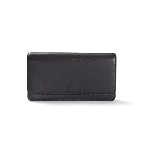 Katy Snap Wallet - Full Grain Leather Leather - Black Onyx (black) by Leatherology