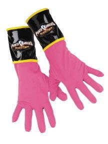 Power Ranger Pink Costume: Gloves - Child's One Size Fits (Power Rangers Mystic Force Costume)